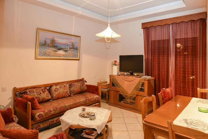 Beautyfull charmy apartment in the heart of Parali - Paralia - Apartemen