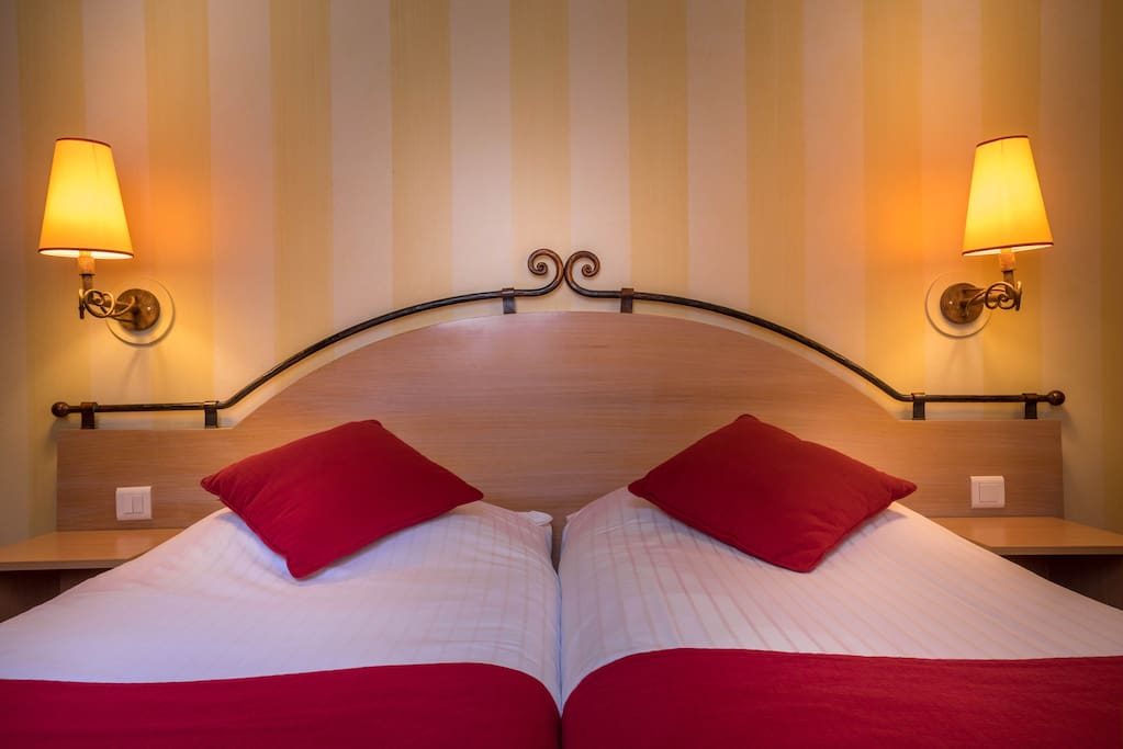 Possibilité d'avoir un lit double ou deux lits simples.