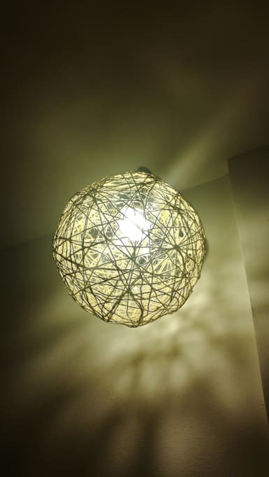 Recycled light from rope
