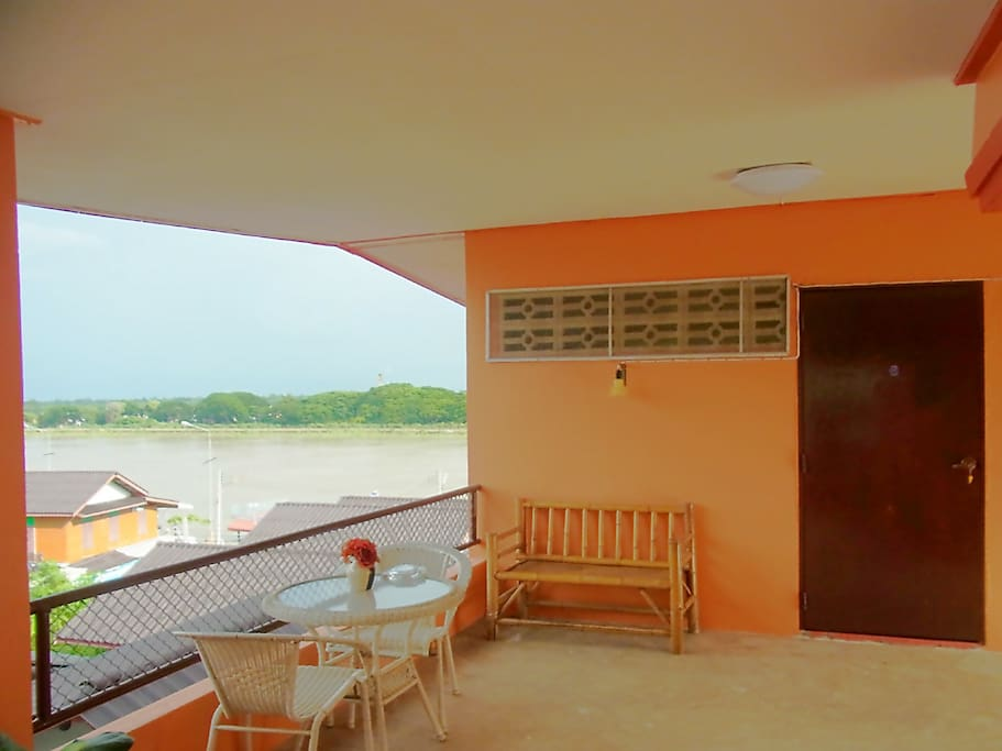 Top floor  fan dormitory room with river view 200/Person, 350/2 person, 450/3 person, 500/4 person