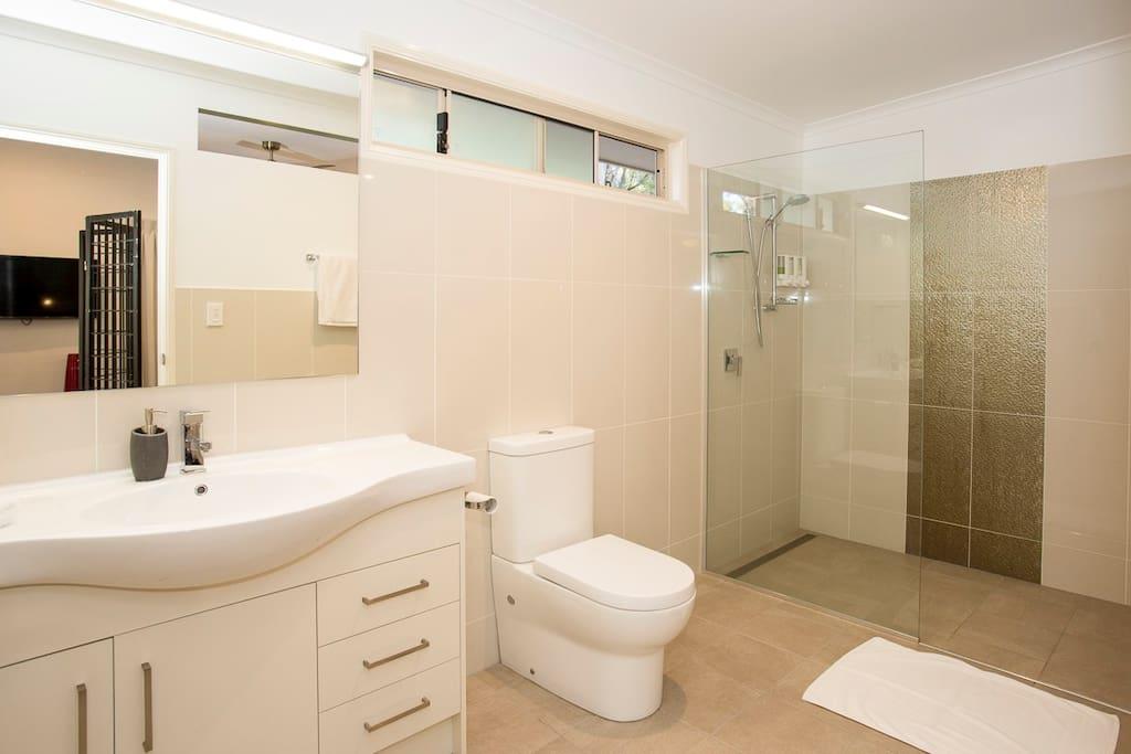 Huge bathroom and large shower
