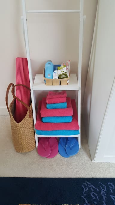 Towels and essentials provided