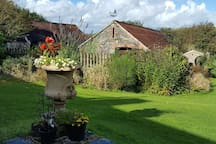 Our garden and barns
