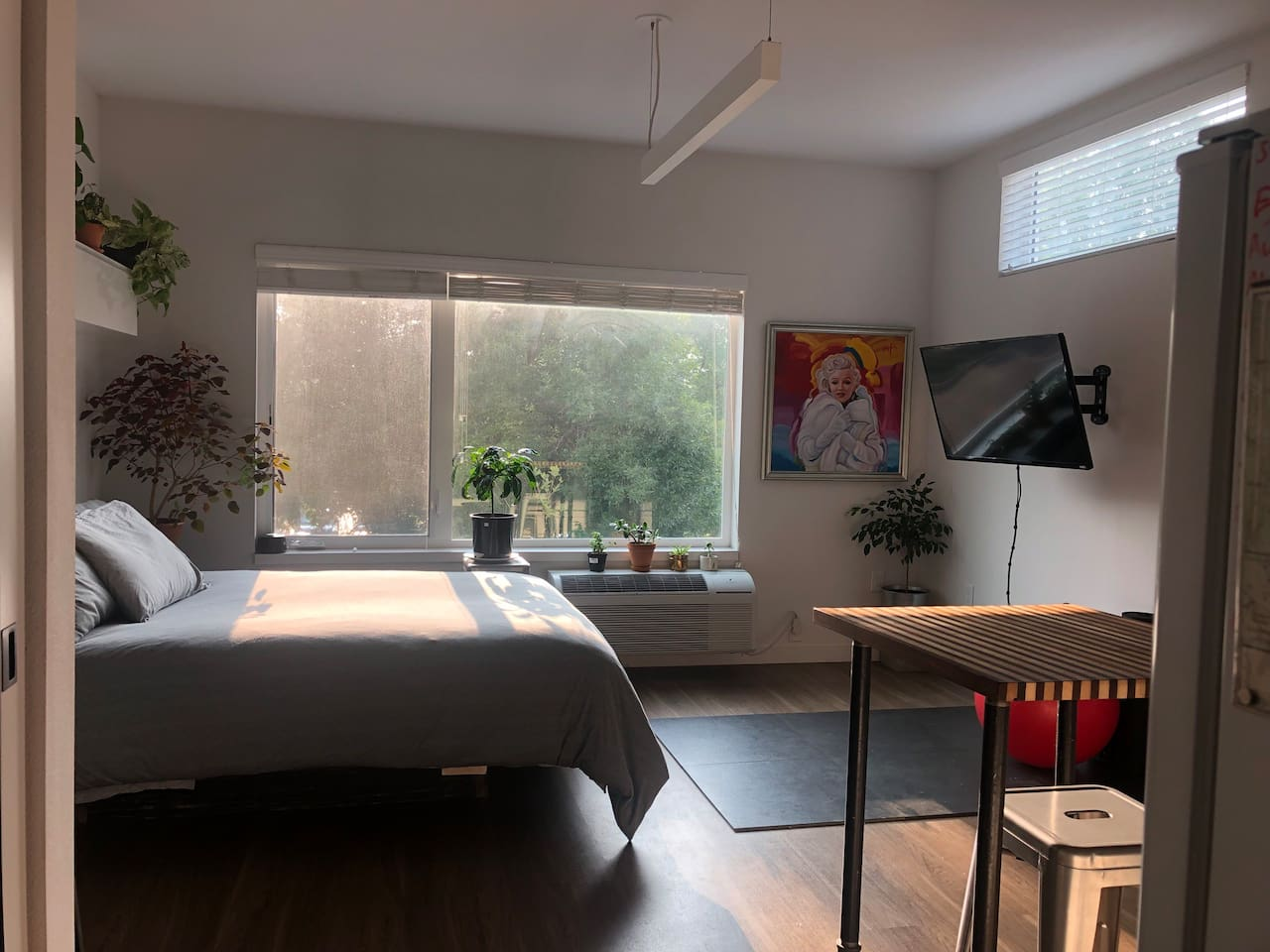 Cozy studio with great morning light.