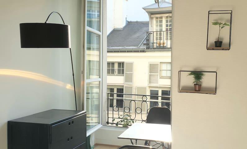 Luminous studio in the heart of Paris