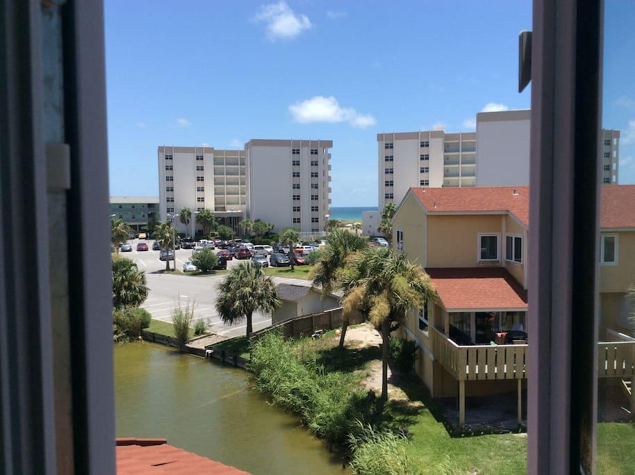 View of gulf from master bedroom.