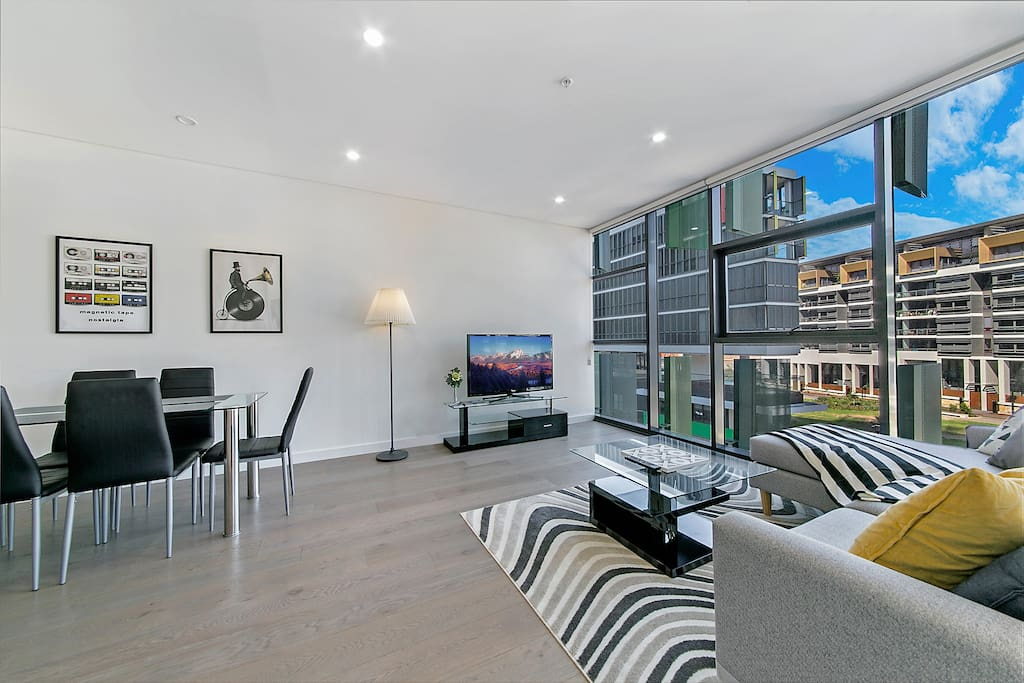 Modern Living Area with Beautiful Artworks