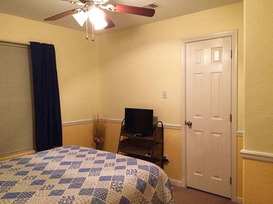 Queen guest bedroom.