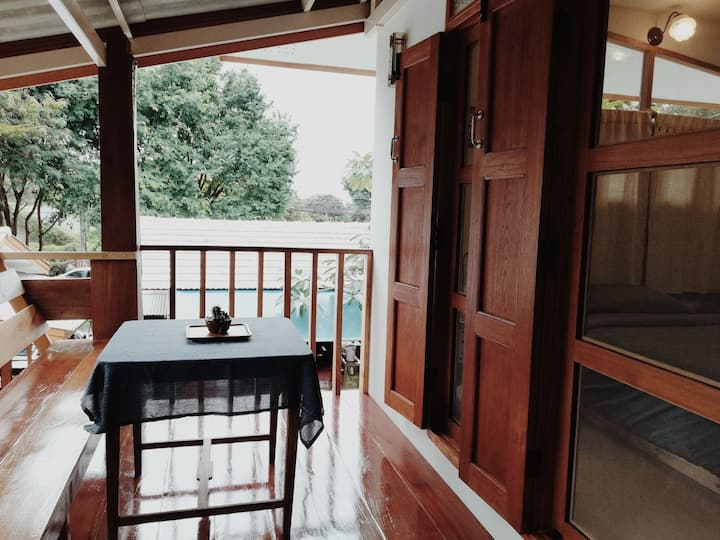 Charming&Cozy Guesthome #Paiyannoi #Brown Balcony