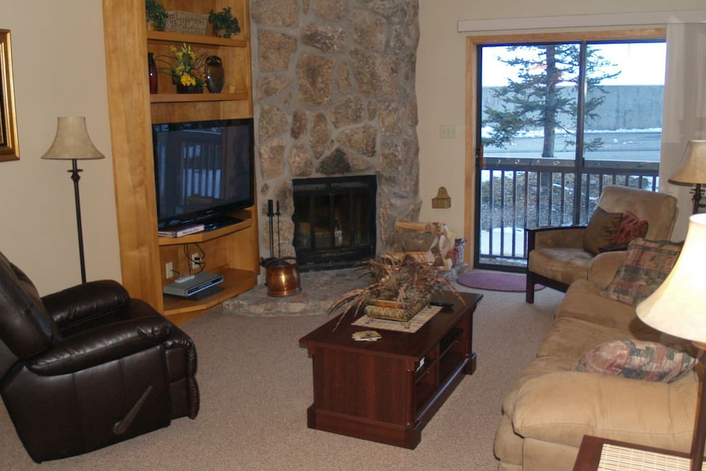 The living room has space for everyone to relax at the end of the day.