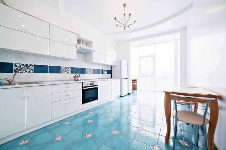 New fresh apartment Santorini in Arcadia area