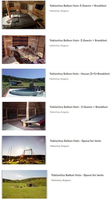 All our accommodation options
