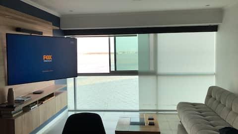 Hermosa suite vista al Rio