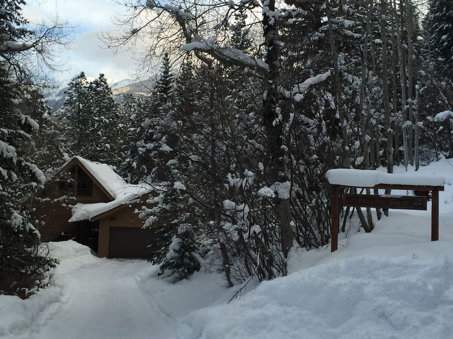 Winter View of Cabin