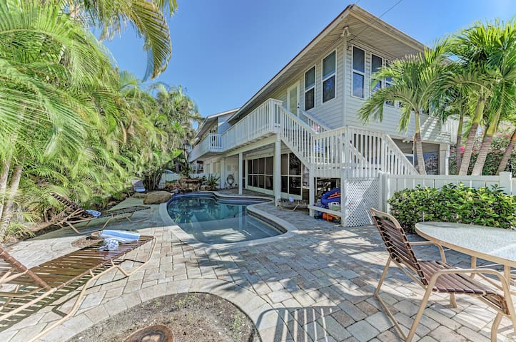 West of Gulf Drive Updated Duplex with Shared Heated Pool