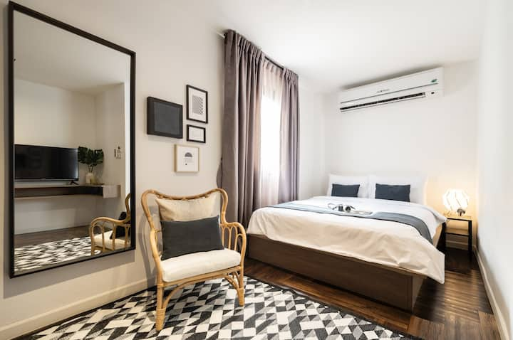 Cozy Room/Private/(2pp)/BTS7Min/Silom/Sathorn/New