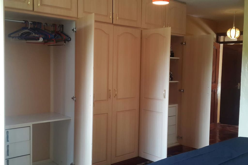 cupboards in all bedrooms