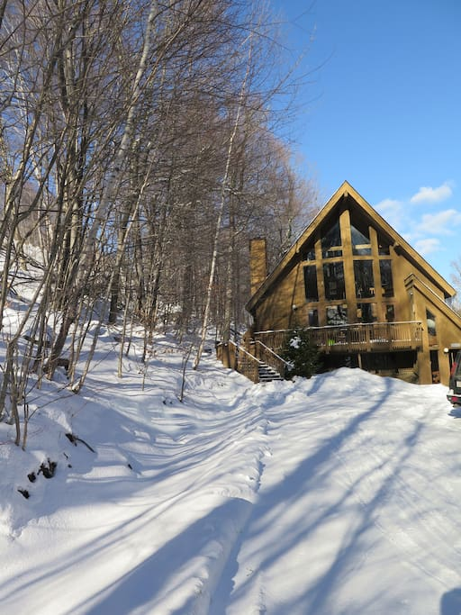 Ski chalet from Great Eastern Trail