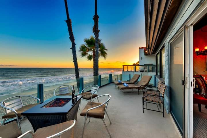 Oceanfront Beach Road Retreat, Amazing Sunsets + Location