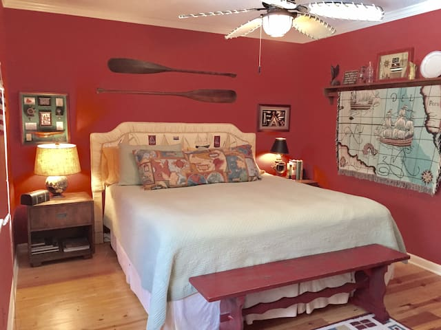 Bedroom #1  offers King size bed and TV