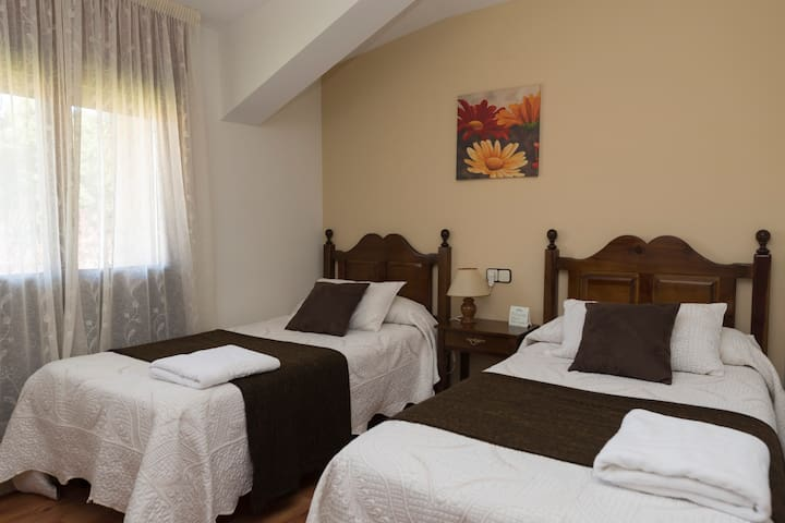 Habitación doble individual en Pinares