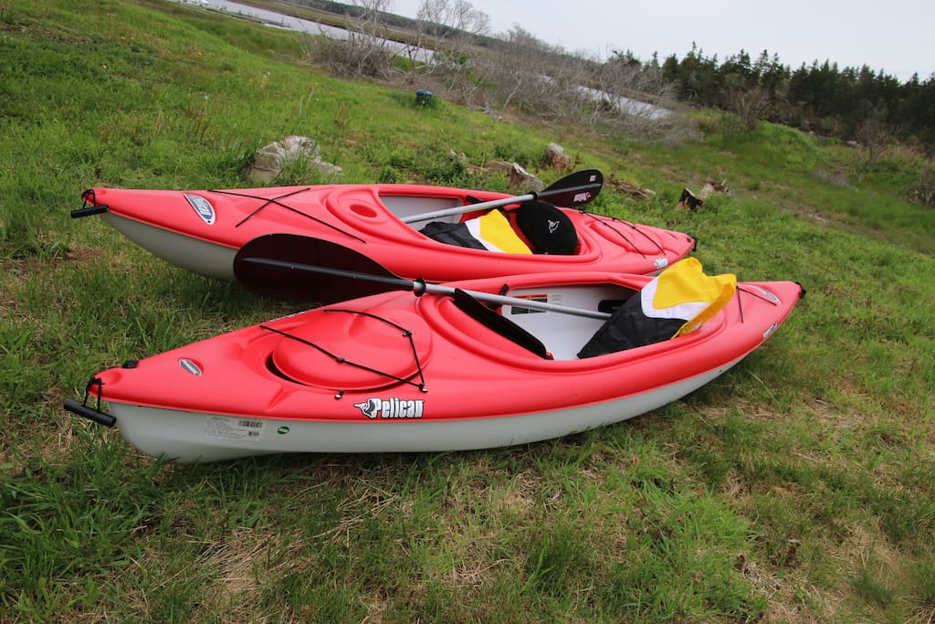 Our two kayaks are available to take for a relaxing paddle down the river.