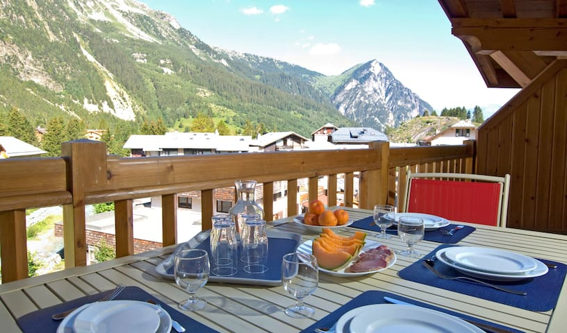 Sit out on your balcony or terrace and breathe the fresh mountain air. (Views may vary).