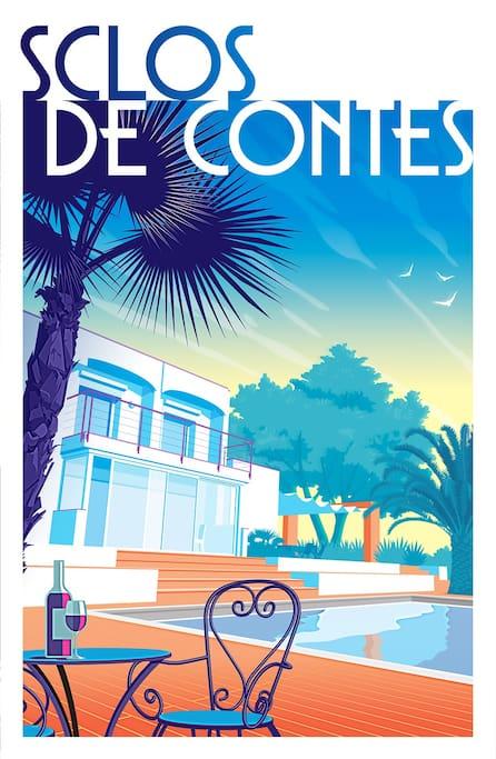 Maison Californienne Nice : Maison californienne proche de nice houses for rent in