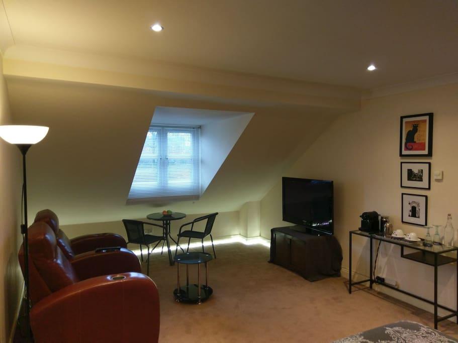 Lounge area of bedroom suite