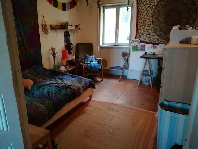 Chambre cosy dans coloc étudiante en centre-ville
