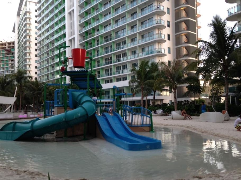 The kids pool, where children can play around