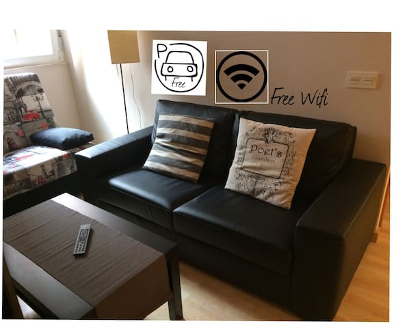 CENTER CITY5 GARAJE GRATIS TOTAL EQUIPPED WIFI A/C