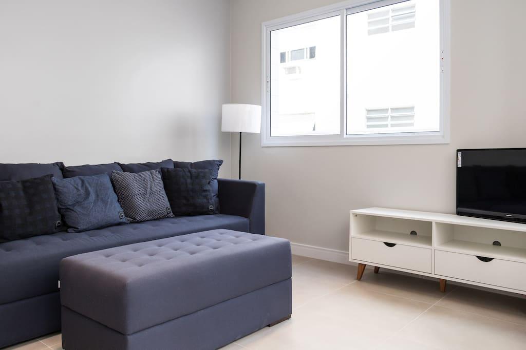 Sala com TV a cabo - Wifi