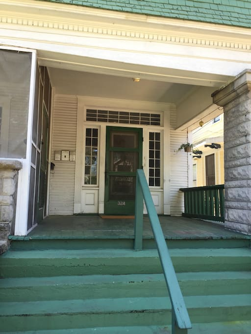 Front Porch and Main Entry Door