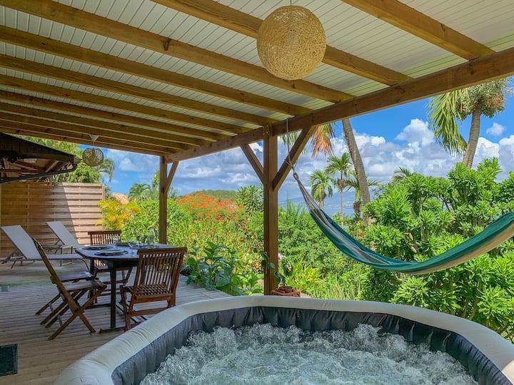 T2 vue mer, terrasse et jaccuzzi à L'Anse à l'Ane