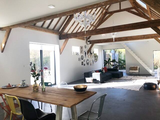 Old barn renovated into a lovely home