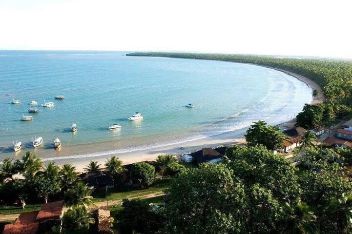 Garapuá, casa p 16 hóspedes, praia