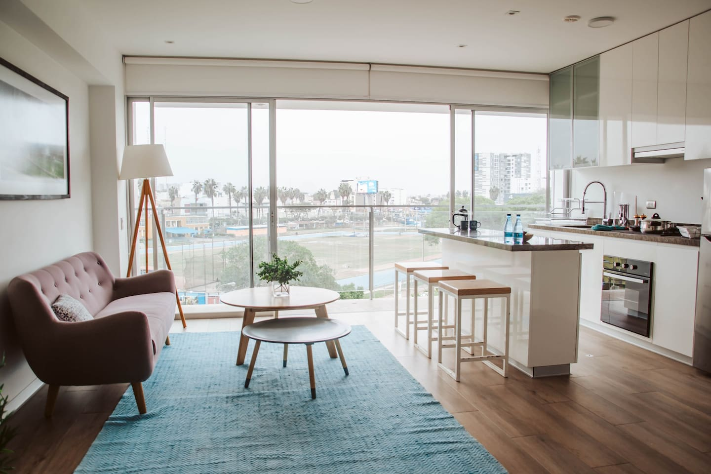 Modern apartment with amazing views.