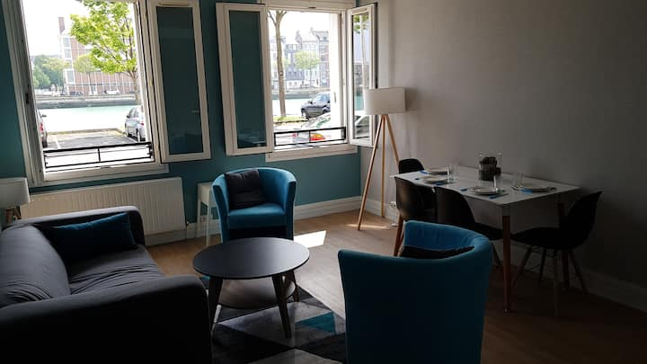 l'appartement bleu, hyper centre, pasino