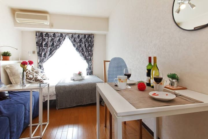 Osaka302, Double bed bright room, free pocket wifi - Ikuno Ward, Osaka - Pis