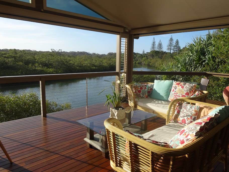 Relax and unwind every day on the verandah and drink in the daily peace
