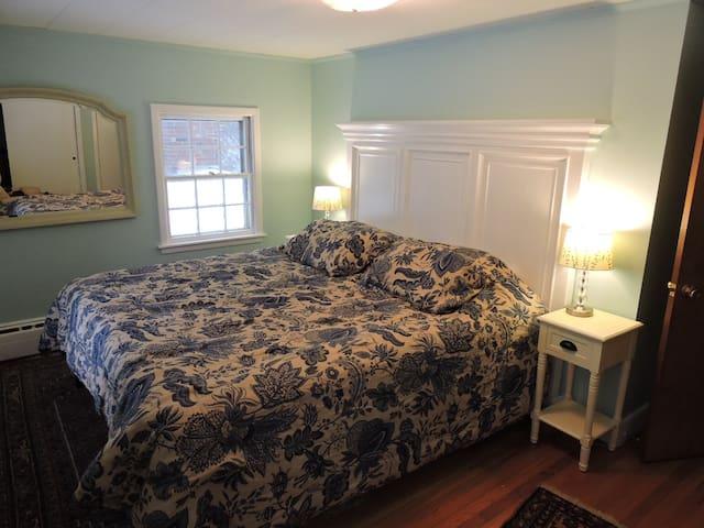 Blue King bedroom