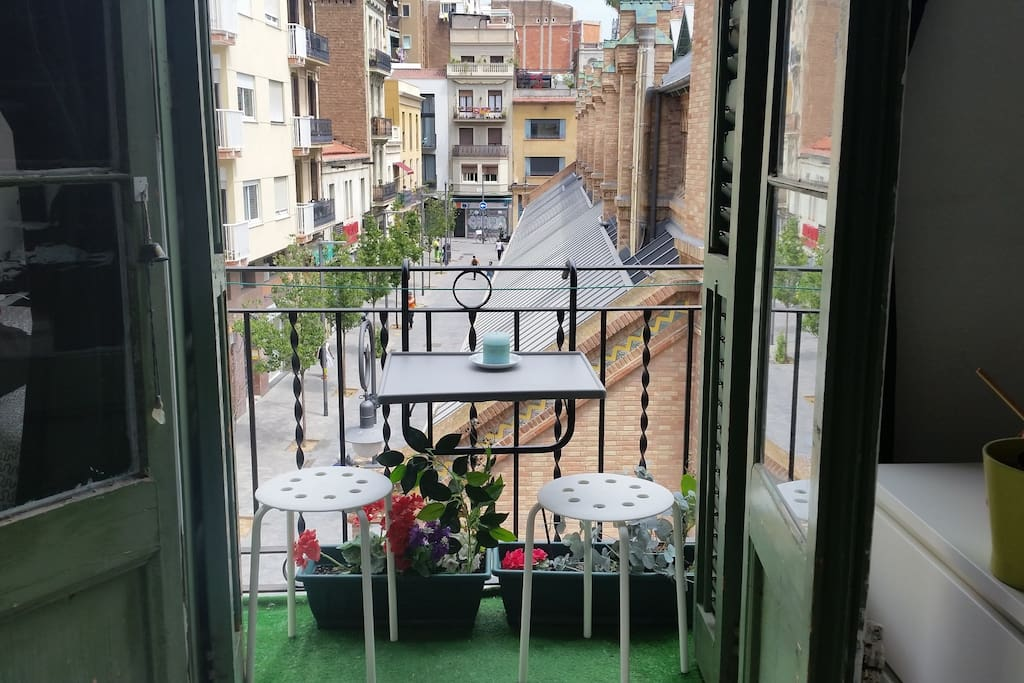 small balcony in the double room