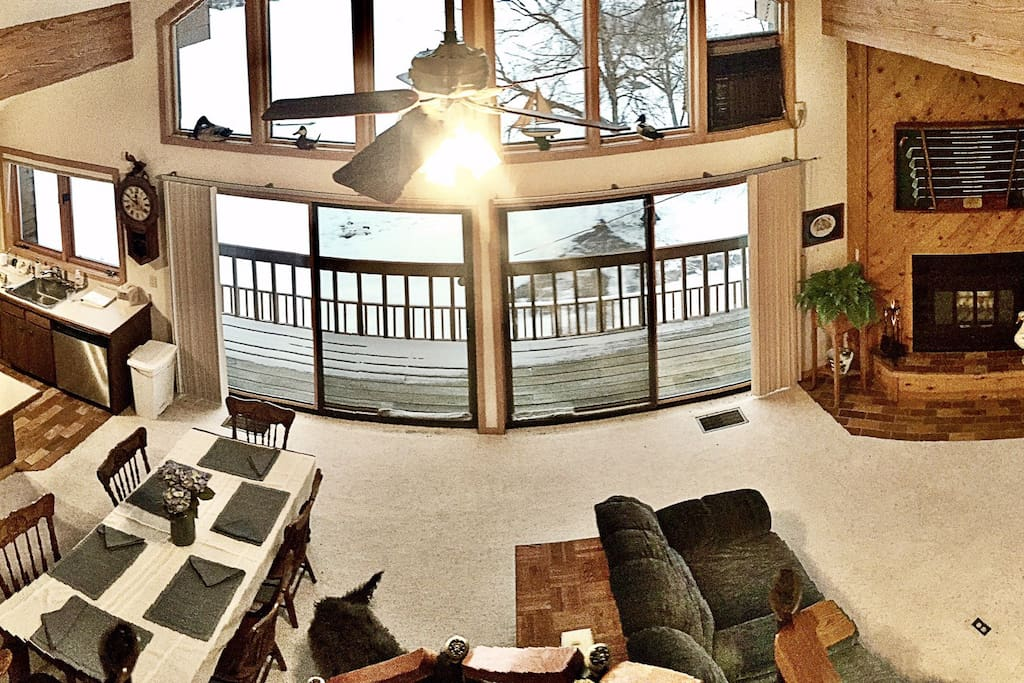 View from the spacious loft