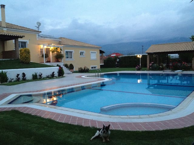 Luxury villa with spacious garden and a huge pool - Kalamata - Villa