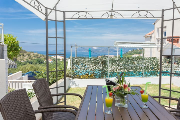 Apartments Oleander Sea View - One Bedroom Apartment with Terrace and Sea View