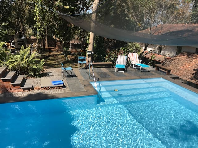 The swimming pool on the property is available to residents of Little Xanti