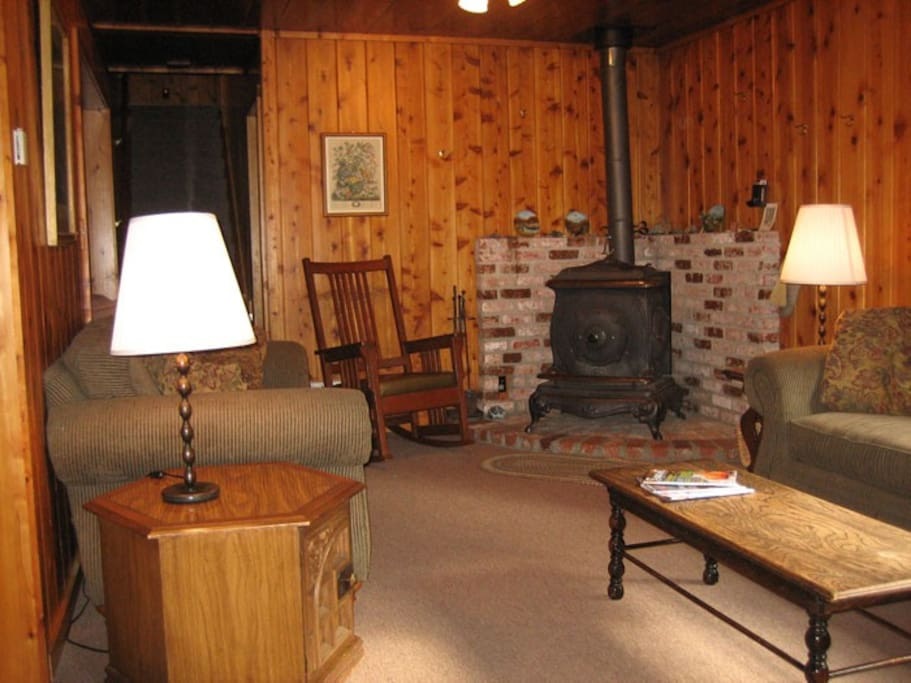 Living room and woodstove