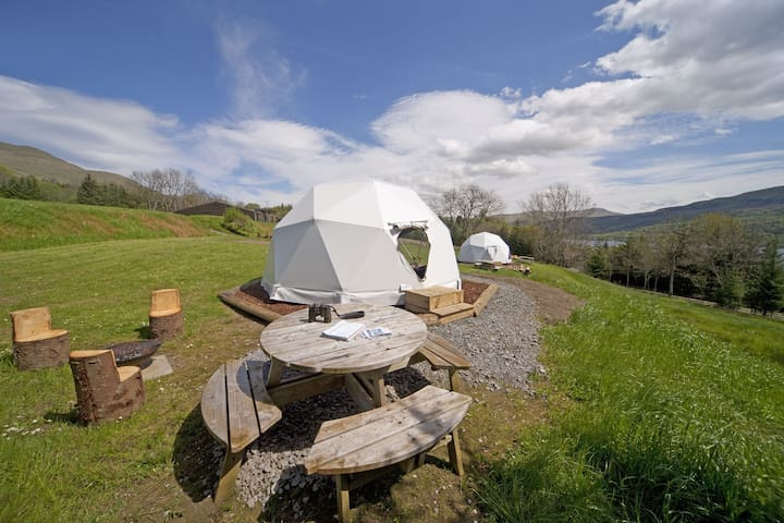 Fyne - Standard Dome - Shared Bathroom Facilities - Guests bring their own Towels and Bedding.