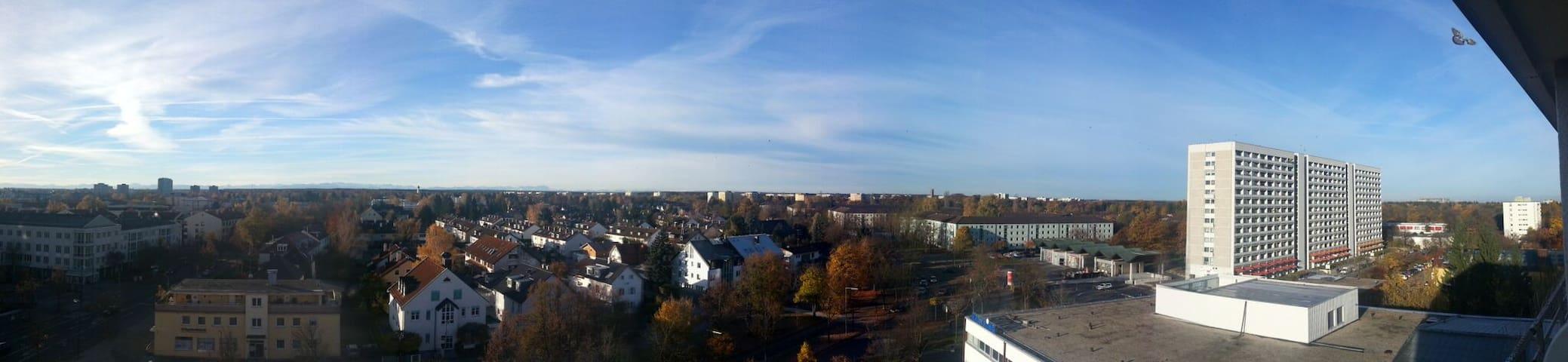 Über dächer von München 8 Stock mit Aplen Blick - Munique - Apartamento